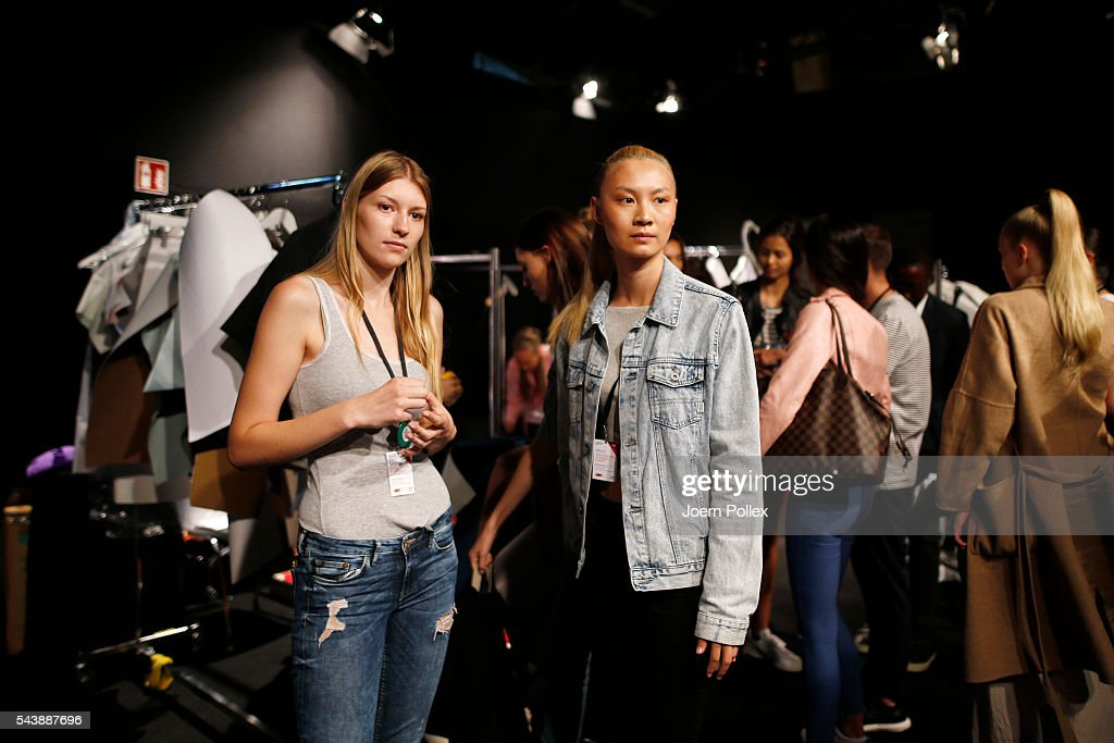 General view backstage ahead of the 'Designer for Tomorrow' show during the Mercedes-Benz Fashion Week Berlin Spring/Summer 2017 at Erika Hess Eisstadion on June 30, 2016 in Berlin, Germany.