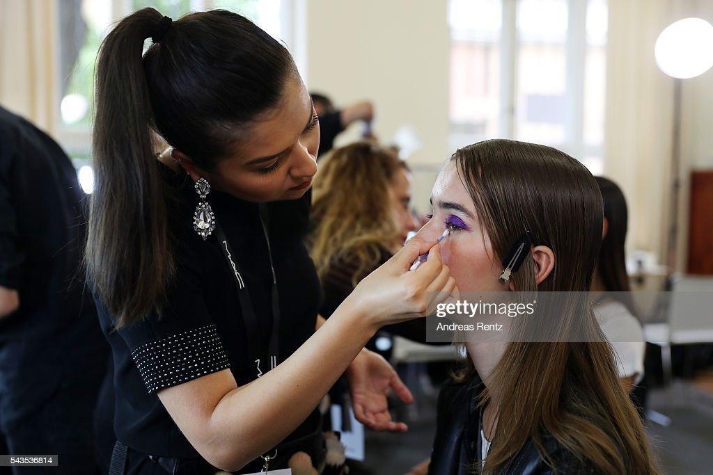 General view backstage ahead of the Dorothee Schumacher show during the Mercedes-Benz Fashion Week Berlin Spring/Summer 2017 at Elisabethkirche on June 29, 2016 in Berlin, Germany.