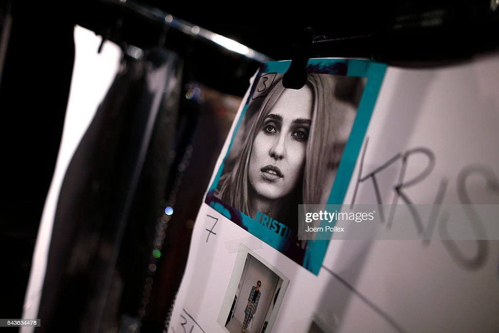 A general view backstage ahead of the Guido Maria Kretschmer show during the Mercedes-Benz Fashion Week Berlin Spring/Summer 2017 at Erika Hess Eisstadion on June 29, 2016 in Berlin, Germany.