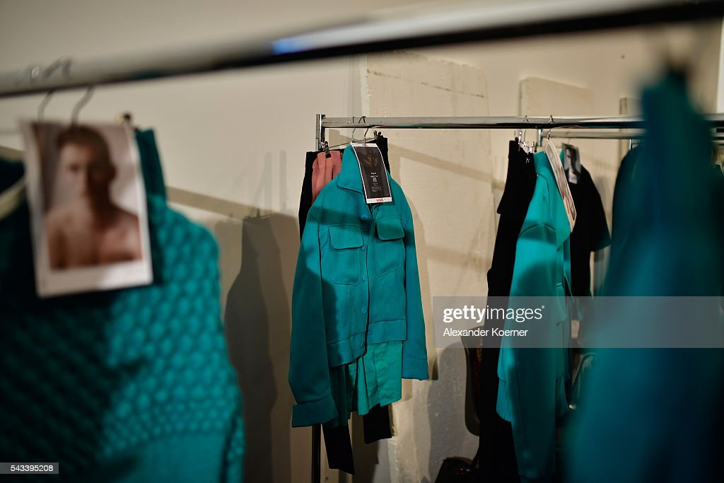 A general view backstage ahead of the Ivanman show during the Mercedes-Benz Fashion Week Berlin Spring/Summer 2017 at Stage at me Collectors Room on June 28, 2016 in Berlin, Germany.