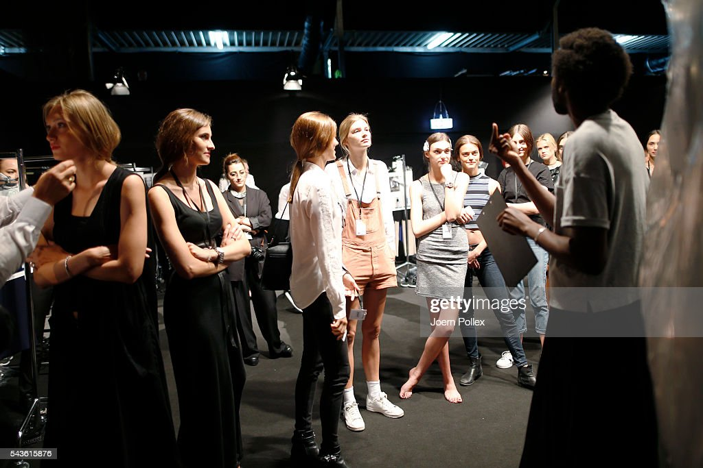 General view backstage ahead of the Laurel show during the Mercedes-Benz Fashion Week Berlin Spring/Summer 2017 at Erika Hess Eisstadion on June 29, 2016 in Berlin, Germany.