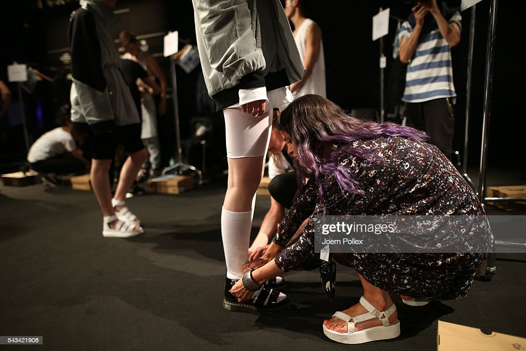 General view backstage ahead of the Odeur show during the Mercedes-Benz Fashion Week Berlin Spring/Summer 2017 at Erika Hess Eisstadion on June 28, 2016 in Berlin, Germany.