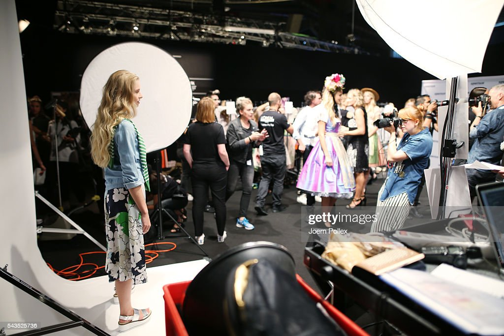 General view backstage ahead of the Sportalm show during the Mercedes-Benz Fashion Week Berlin Spring/Summer 2017 at Erika Hess Eisstadion on June 29, 2016 in Berlin, Germany.