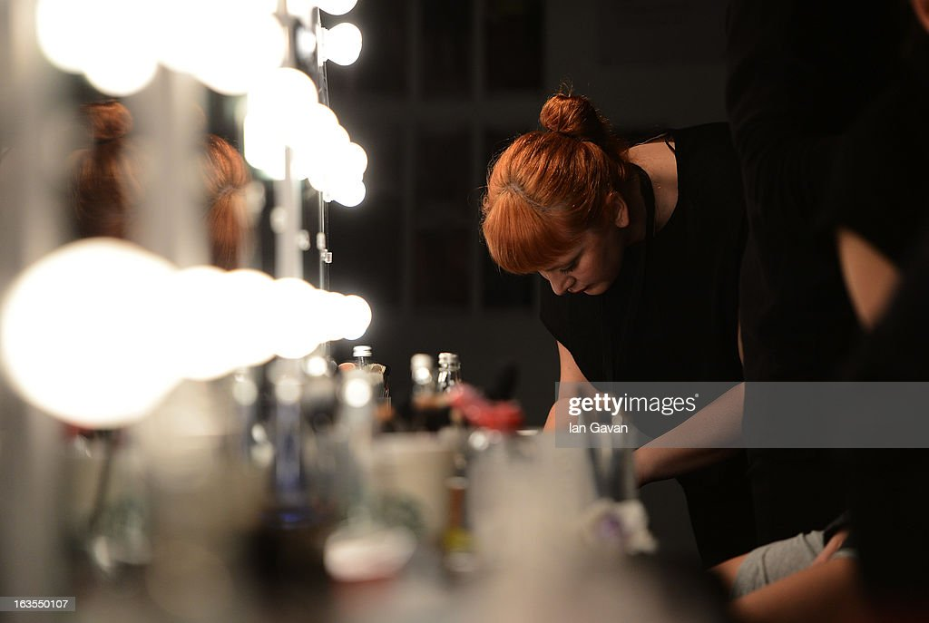 A general view backstage at the Ece Gozen show during Mercedes-Benz Fashion Week Istanbul Fall/Winter 2013/14 at Antrepo 3 on March 12, 2013 in Istanbul, Turkey.