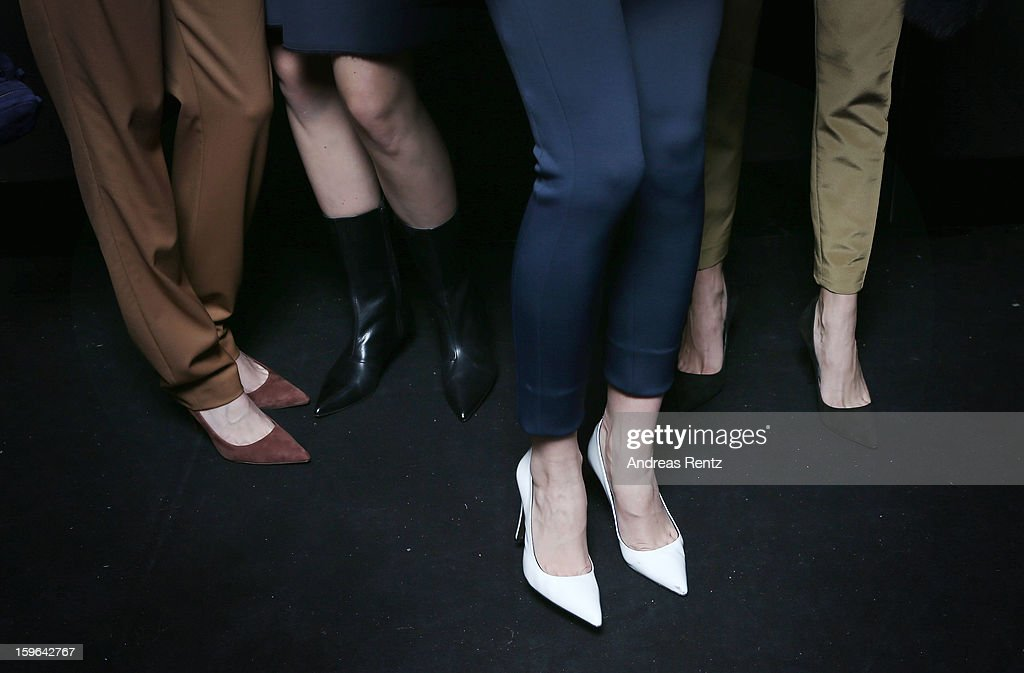 A general view backstage at the Schumacher Autumn/Winter 2013/14 Fashion Show during Mercedes-Benz Fashion Week Berlin at Brandenburg Gate on January 17, 2013 in Berlin, Germany.