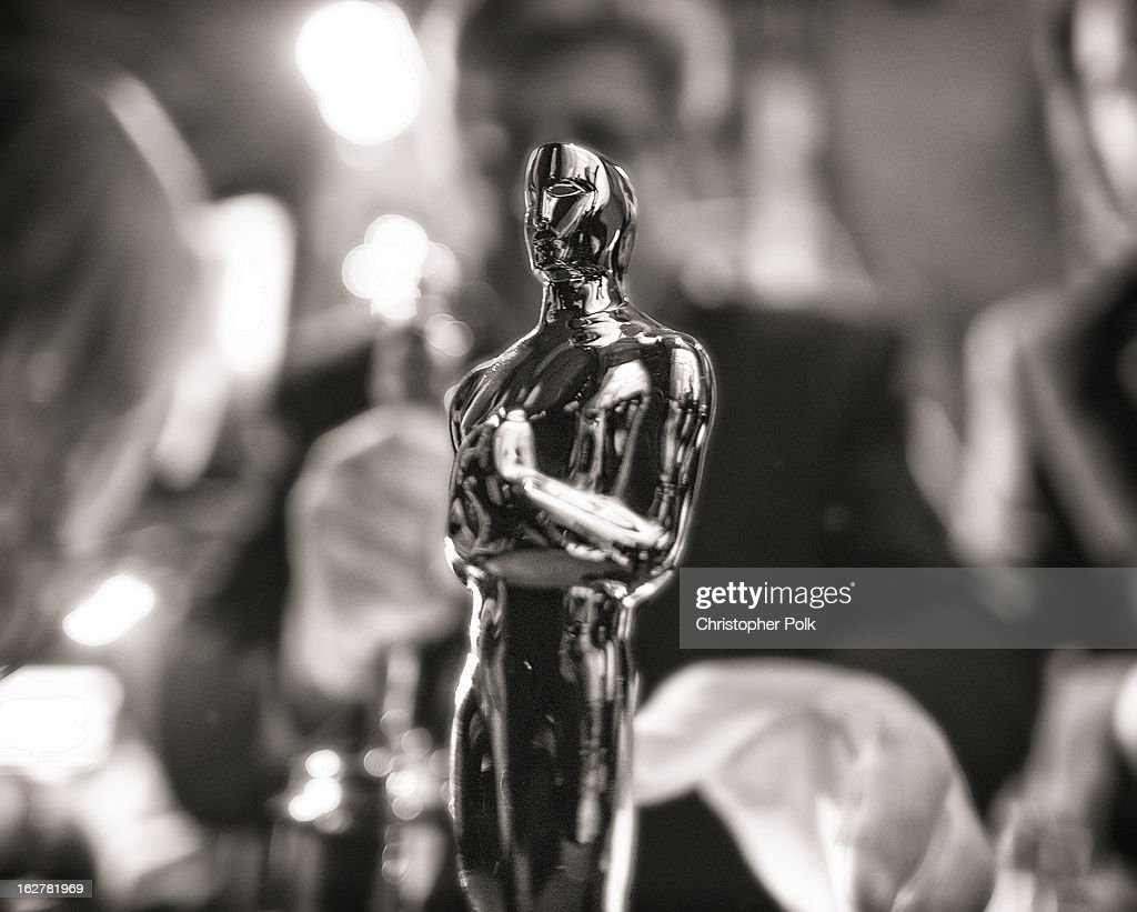 General view backstage during the Oscars held at the Dolby Theatre on February 24, 2013 in Hollywood, California.