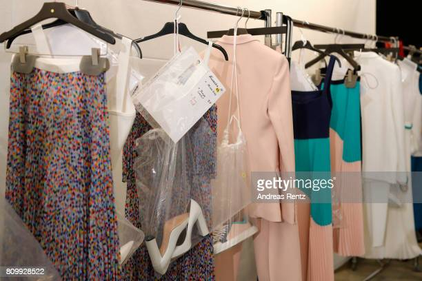A general view backstage prior to the Hugo Boss presentation during 'Der Berliner Mode Salon' Spring/Summer 2018 at St Agnes Church on July 6 2017 in...