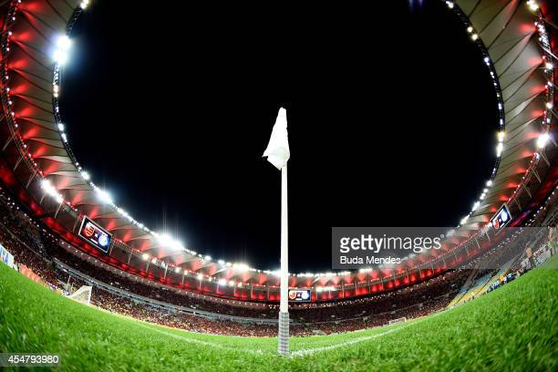 General view before a match between Flamengo and Gremio as part of Brasileirao Series A 2014 at Maracana Stadium on September 06 2014 in Rio de...