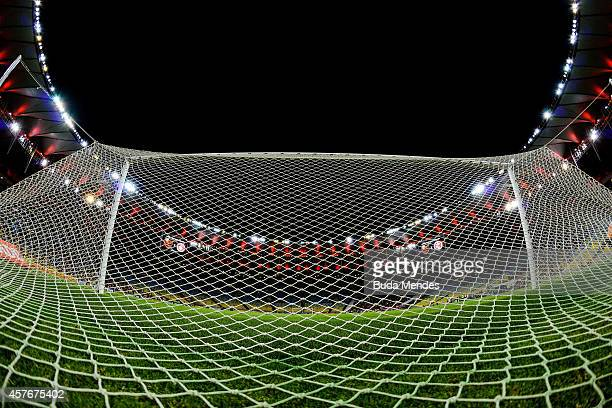 General view before a match between Flamengo and Internacional as part of Brasileirao Series A 2014 at Maracana Stadium on October 22 2014 in Rio de...