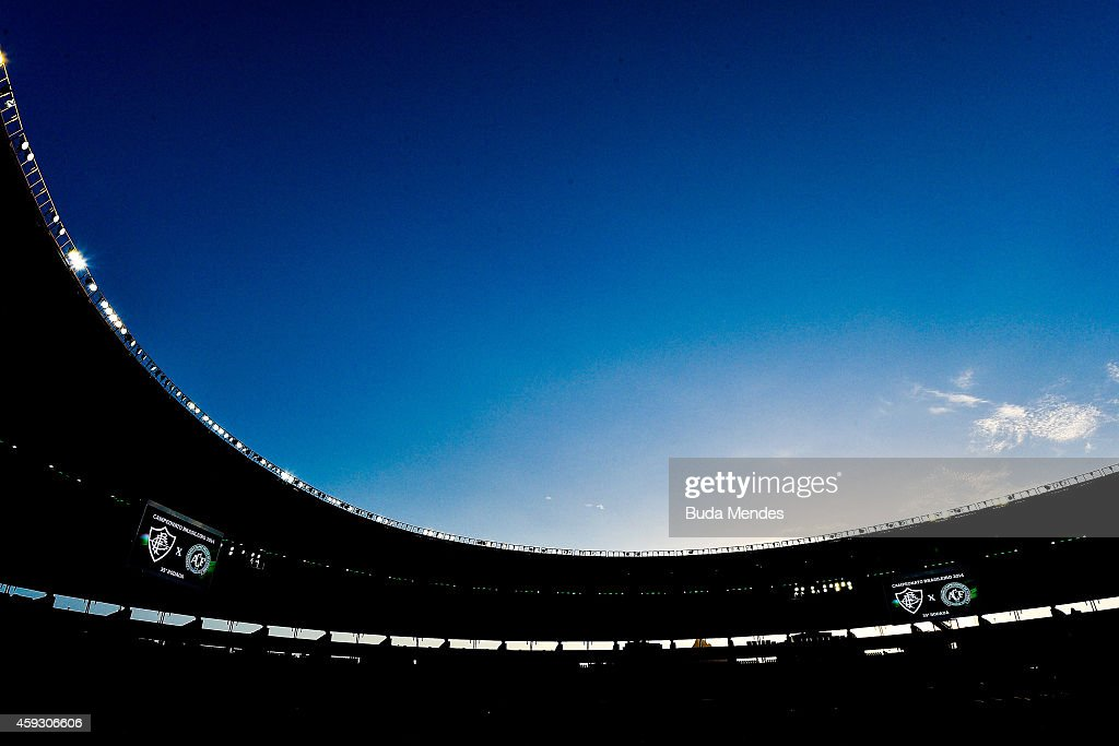 General view before a match between Fluminense and Chapecoense as part of Brasileirao Series A 2014 at Maracana Stadium on November 20 2014 in Rio de...