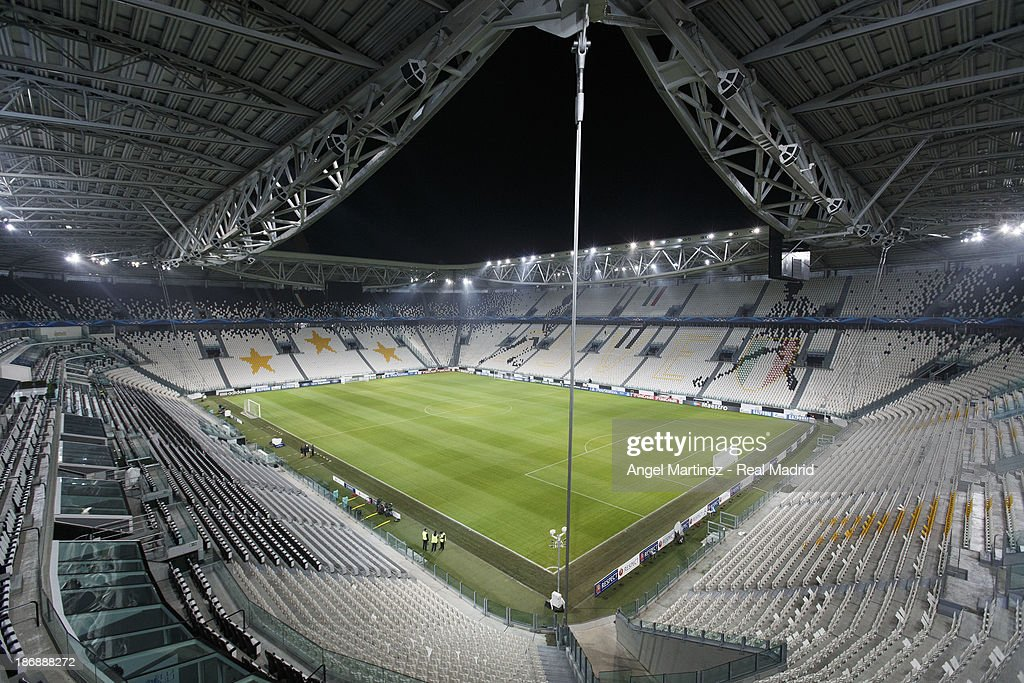 A general view before a Real Madrid training training session ahead of their UEFA Champions League Group B match against Juventus at Juventus Arena on November 4, 2013 in Turin, Italy.