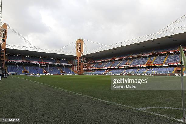 General view before during the Serie A match between Genoa CFC and SSC Napoli at Stadio Luigi Ferraris on August 31 2014 in Genoa Italy