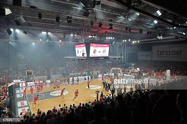 General view before Game One of the 2015 BBL Finals at Brose Arena on June 7 2015 in Bamberg Germany