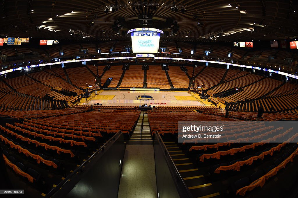 A general view before Game Seven of the Western Conference Finals between the Oklahoma City Thunder and Golden State Warriors during the 2016 NBA Playoffs on May 30, 2016 at Oracle Arena in Oakland, California.