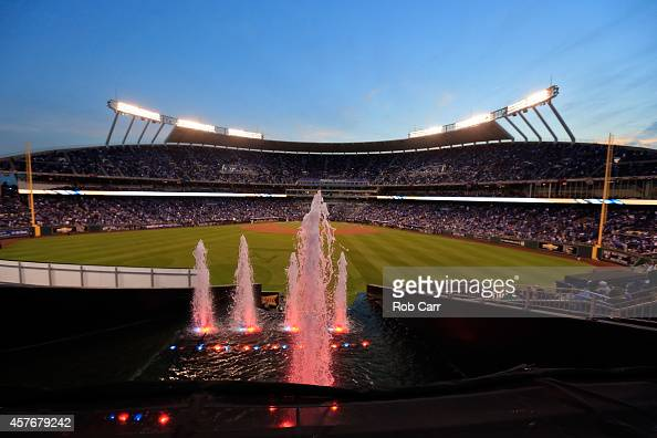 A general view before Game Two of the 2014 World Series between the Kansas City Royals and the San Francisco Giants at Kauffman Stadium on October 22...