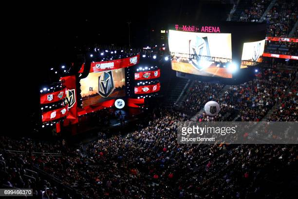 A general view before the 2017 NHL Awards and Expansion Draft at TMobile Arena on June 21 2017 in Las Vegas Nevada