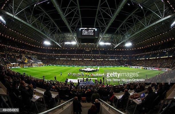 General view before the Allsvenskan match between AIK and IFK Goteborg at the Friends arena on October 26 2015 in Solna Sweden