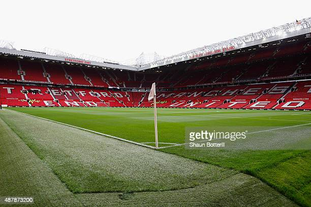 A general view before the Barclays Premier League match between Manchester United and Liverpool at Old Trafford on September 12 2015 in Manchester...