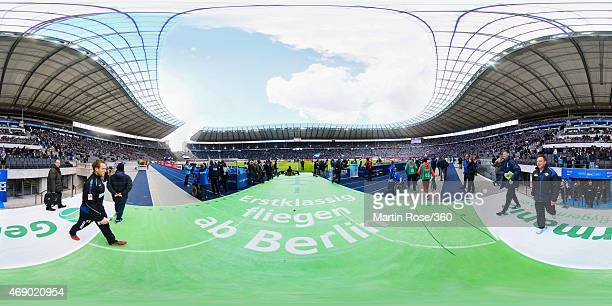 A general view before the Bundesliga match between Hertha BSC and SC Paderborn 07 at Olympiastadion on April 5 2015 in Berlin Germany
