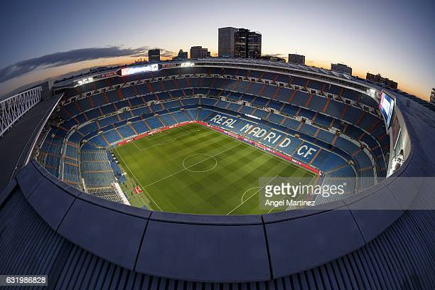 A general view before the Copa del Rey quarterfinal first leg match between Real Madrid CF and Celta de Vigo at Estadio Santiago Bernabeu on January...