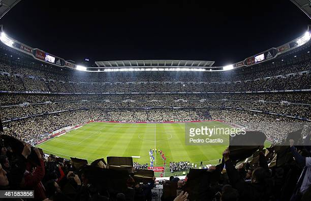A general view before the Copa del Rey round of 16 second leg match between Real Madrid CF and Club Atletico de Madrid at Estadio Santiago Bernabeu...