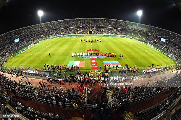 General view before the EURO 2016 Group H Qualifier match between Italy and Azerbaijan at Stadio Renzo Barbera on October 10 2014 in Palermo Italy