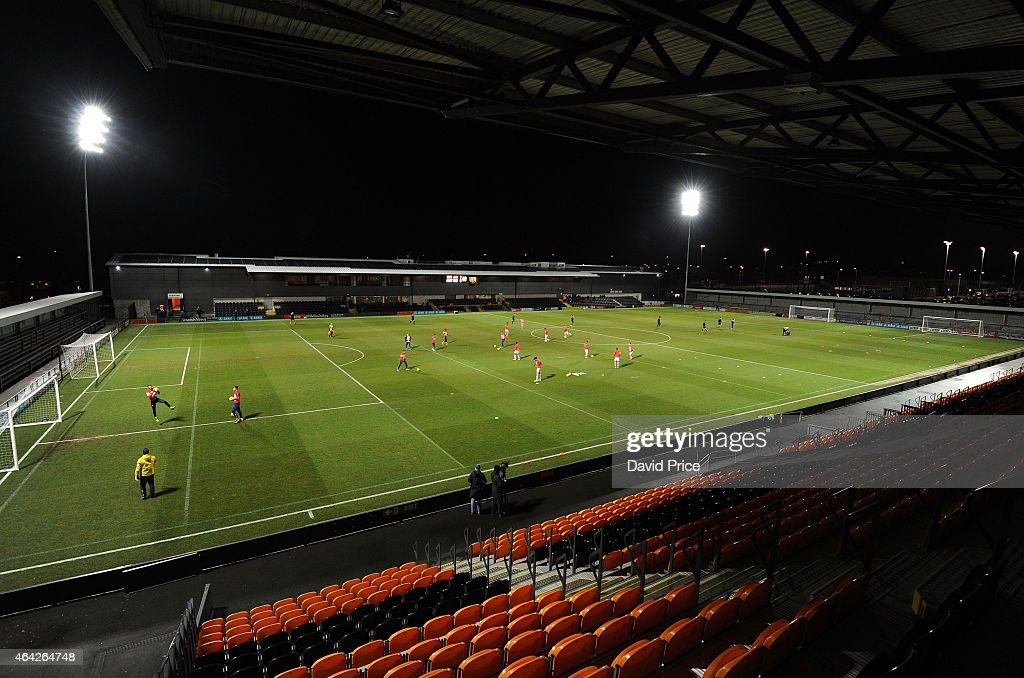 A general view before the FA Youth Cup 5th Round match between Arsenal U18 and Crewe Alexandra U18 at The Hive on February 23 2015 in Barnet England