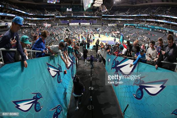 A general view before the game against the Philadelphia 76ers on February 13 2017 at the Spectrum Center in Charlotte North Carolina NOTE TO USER...