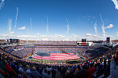 General view before the game between the Buffalo Bills and the Miami Dolphins during ceremonies honoring US military on November 8 2015 at Ralph...