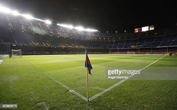 A general view before the La Liga match between Barcelona and Mallorca at the Camp Nou Stadium on November 7 2009 in Barcelona Spain