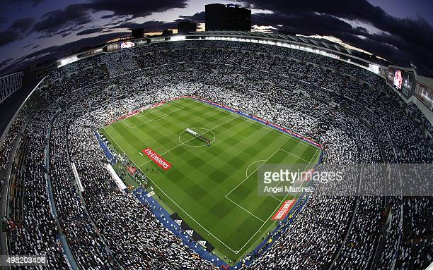 A general view before the La Liga match between Real Madrid CF and FC Barcelona at Estadio Santiago Bernabeu on November 21 2015 in Madrid Spain