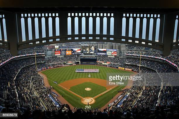 A general view before the New York Yankees game against the Chicago Cubs at Yankee Stadium on April 3 2009 in the Bronx borough of New York City...