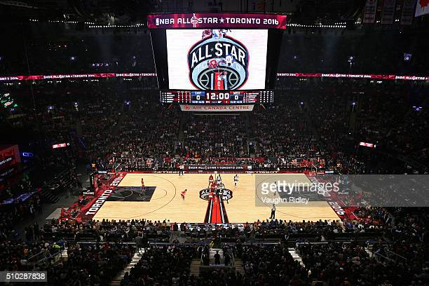 A general view before the opening tip during the NBA AllStar Game 2016 at the Air Canada Centre on February 14 2016 in Toronto Ontario NOTE TO USER...