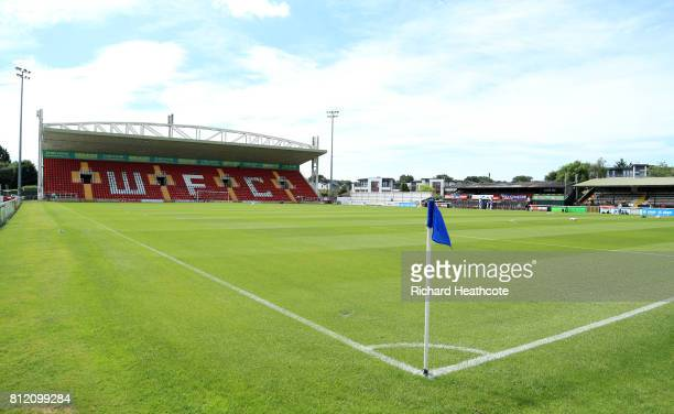 A general view before the preseason friendly match between Woking and Watford U23 at the Laithwaite Community Stadium on July 08 2017 in Woking...