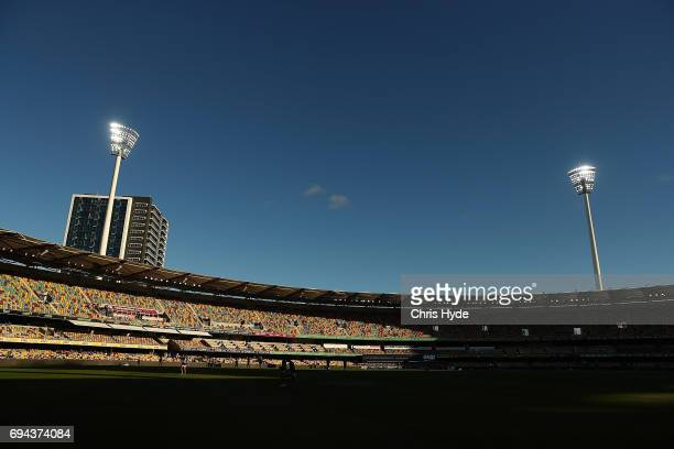 General view before the round 12 AFL match between the Brisbane Lions and the Fremantle Dockers at The Gabba on June 10 2017 in Brisbane Australia