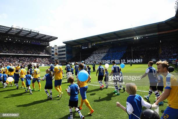 A general view before the Second Bundesliga match between DSC Arminia Bielefeld and Eintracht Braunschweig at Schueco Arena on May 14 2017 in...