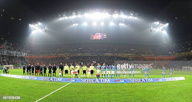 General view before the Serie A match between FC Internazionale Milano and SSC Napoli at Stadio Giuseppe Meazza on October 19 2014 in Milan Italy