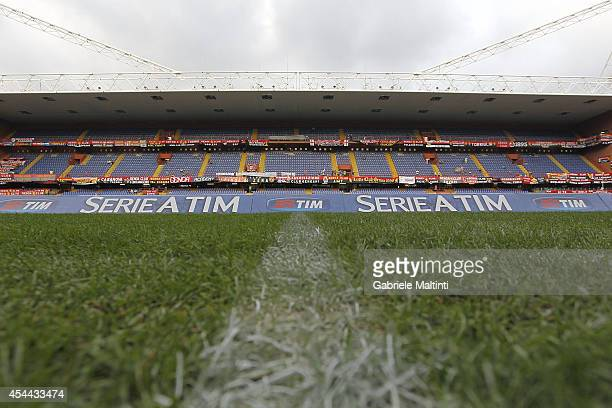 General view before the Serie A match between Genoa CFC and SSC Napoli at Stadio Luigi Ferraris on August 31 2014 in Genoa Italy