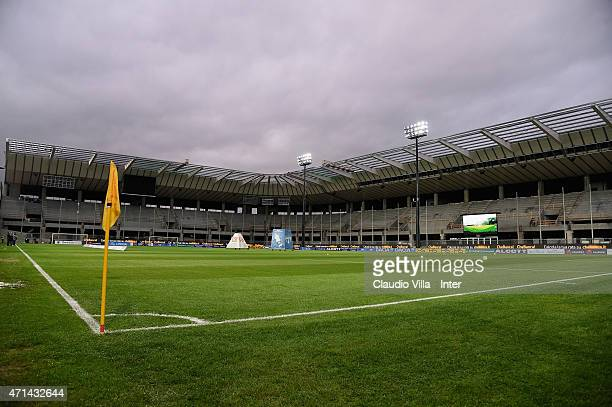 A general view before the Serie A match between Udinese Calcio and FC Internazionale Milano at Stadio Friuli on April 28 2015 in Udine Italy