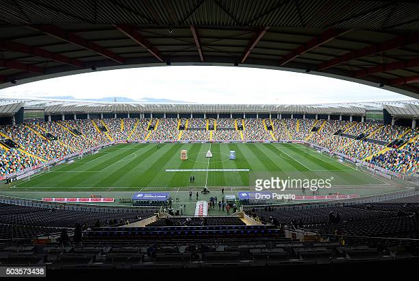 A general view before the Serie A match between Udinese Calcio v Atalanta BC at Stadio Friuli on January 6 2016 in Udine Italy