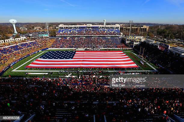 A general view before the start of the 2014 Military Bowl between the Virginia Tech Hokies and Cincinnati Bearcats at NavyMarine Corps Memorial...