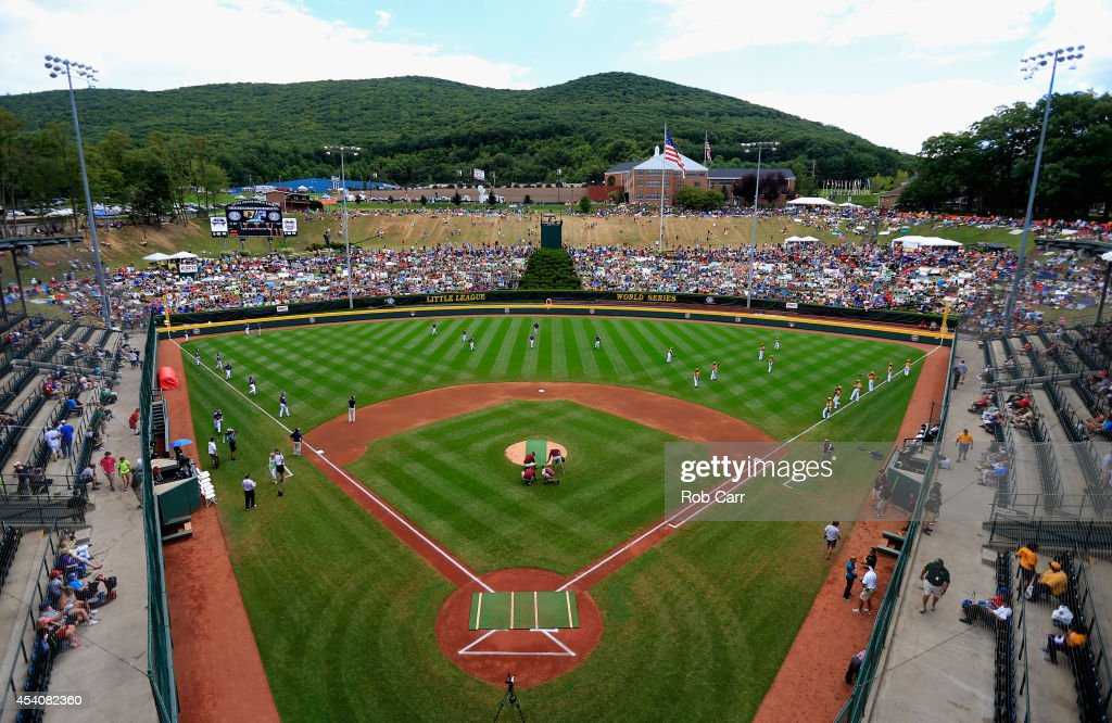 A general view before the start of the Little League World Series Championship game between the Great Lakes Team from Chicago, Illinois and Team Asia-Pacific at Lamade Stadium on August 24, 2014 in South Williamsport, Pennsylvania.