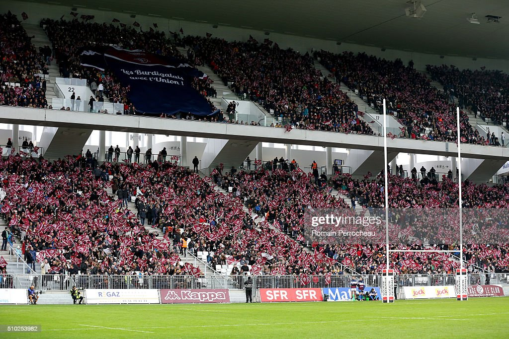 A general view before the Top 14 rugby match between Union Bordeaux Begles and RC Toulon at Stade Matmut Atlantique on February 14, 2016 in Bordeaux, France.