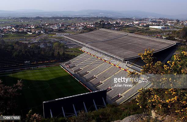 A general view before the UEFA Europa League round of 16 first leg match between Braga and Liverpool at Estadio Municipal de Braga on March 10 2011...