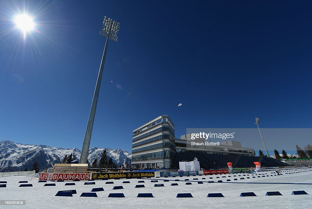 A general view before the Women's 15km Individual Event during the E. ON IBU Biathlon World Cup at the 'Laura' Biathlon & Ski Complex on March 7, 2013 in Sochi, Russia.