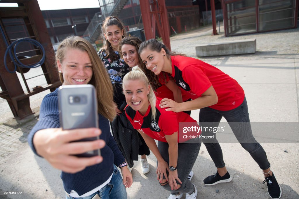 A general view behind the scenes of the Allianz Frauen Bundesliga Club Tour of SGS Essen at Zeche Zollverein on August 22, 2017 in Essen, Germany.