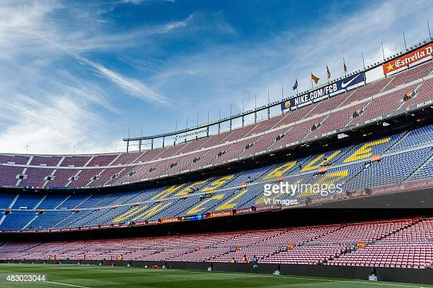General View Camp Nou home of FC Barcelona during the Joan Gamper Trophy match between Barcelona and AS Roma on August 5 2015 at the Camp Nou stadium...