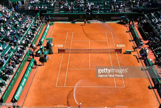 General view court Rainier III during the Monte Carlo Rolex Masters 2017 on April 20 2017 in Monaco Monaco