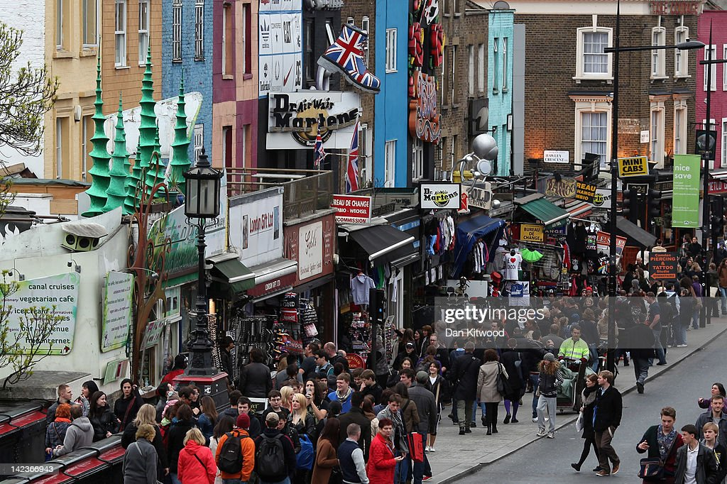 A general view down Camden High Street on March 31, 2012 in London, England. Camden in North London has been one of the city's cultural centres since the 1960's, and is home to the famous Camden Market. The borough is rich in musical heritage with a variety of theatres, art galleries and world famous musical and comedy venues.