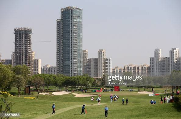 A general view down the 17th hole during day four of the Avantha Masters at Jaypee Greens Golf Club on March 17 2013 in Delhi India
